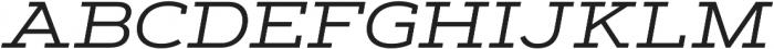 Artegra Slab Extended Regular Italic otf (400) Font UPPERCASE