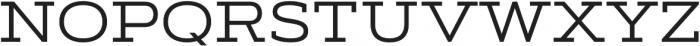 Artegra Slab Extended Regular otf (400) Font UPPERCASE