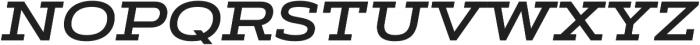 Artegra Slab Extended SemiBold Italic otf (600) Font UPPERCASE