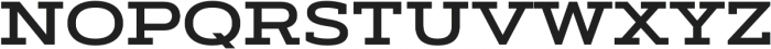 Artegra Slab Extended SemiBold otf (600) Font UPPERCASE