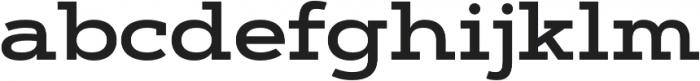 Artegra Slab Extended SemiBold otf (600) Font LOWERCASE