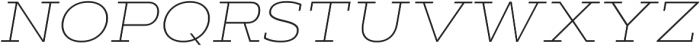 Artegra Slab Extended Thin Italic otf (100) Font UPPERCASE