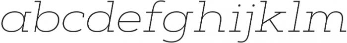 Artegra Slab Extended Thin Italic otf (100) Font LOWERCASE