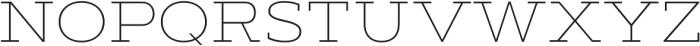 Artegra Slab Extended Thin otf (100) Font UPPERCASE