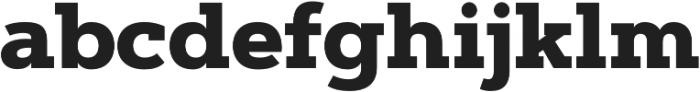 Artegra Slab ExtraBold otf (700) Font LOWERCASE