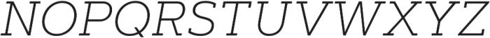 Artegra Slab ExtraLight Italic otf (200) Font UPPERCASE