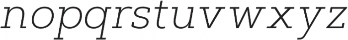 Artegra Slab ExtraLight Italic otf (200) Font LOWERCASE