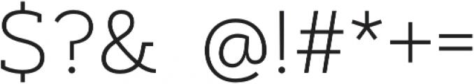 Artegra Slab ExtraLight otf (200) Font OTHER CHARS