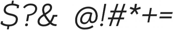 Artegra Slab Light Italic otf (300) Font OTHER CHARS