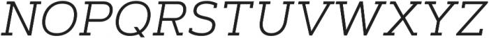 Artegra Slab Light Italic otf (300) Font UPPERCASE