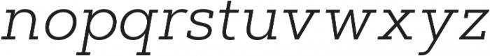 Artegra Slab Light Italic otf (300) Font LOWERCASE