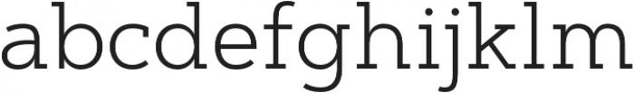 Artegra Slab Light otf (300) Font LOWERCASE