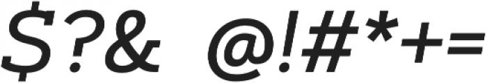 Artegra Slab Medium Italic otf (500) Font OTHER CHARS