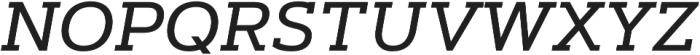 Artegra Slab Medium Italic otf (500) Font UPPERCASE