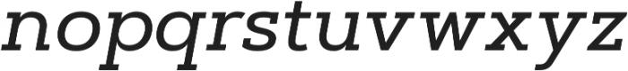 Artegra Slab Medium Italic otf (500) Font LOWERCASE