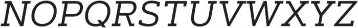 Artegra Slab Regular Italic otf (400) Font UPPERCASE