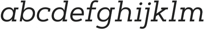 Artegra Slab Regular Italic otf (400) Font LOWERCASE