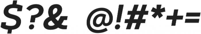 Artegra Slab SemiBold Italic otf (600) Font OTHER CHARS