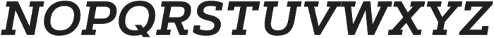 Artegra Slab SemiBold Italic otf (600) Font UPPERCASE