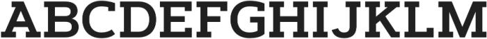 Artegra Slab SemiBold otf (600) Font UPPERCASE