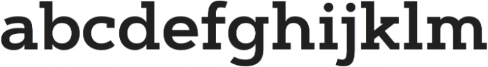 Artegra Slab SemiBold otf (600) Font LOWERCASE