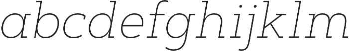 Artegra Slab Thin Italic otf (100) Font LOWERCASE