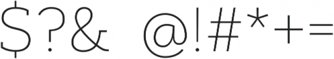 Artegra Slab Thin otf (100) Font OTHER CHARS
