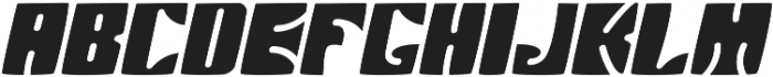 Arthos  Italic ttf (400) Font UPPERCASE