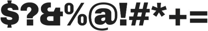 Arthur Black otf (900) Font OTHER CHARS