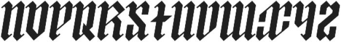 ArthurBlack MediumItalic otf (500) Font UPPERCASE