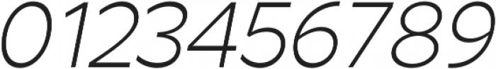 Arthura Thin Italic otf (100) Font OTHER CHARS