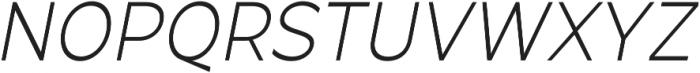 Arthura Thin Italic otf (100) Font UPPERCASE