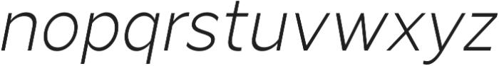 Arthura Thin Italic otf (100) Font LOWERCASE