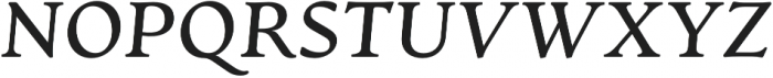 Artifex CF Demi Bold Italic otf (600) Font UPPERCASE