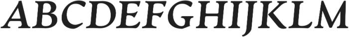 Artifex CF Extra Bold Italic otf (700) Font UPPERCASE
