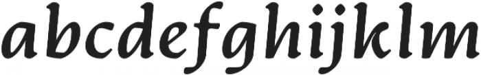 Artifex CF Extra Bold Italic otf (700) Font LOWERCASE