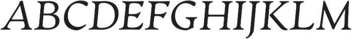 Artifex CF Light Italic otf (300) Font UPPERCASE