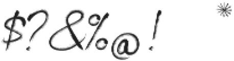 Artist Brush Script ttf (400) Font OTHER CHARS