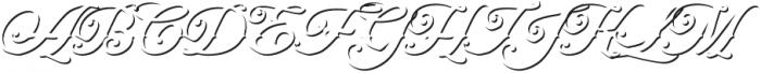 Artonic Shadow Regular otf (400) Font UPPERCASE