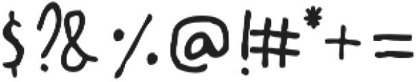 Artsy & Raw Plain otf (400) Font OTHER CHARS