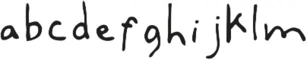 Artsy & Raw Plain otf (400) Font LOWERCASE