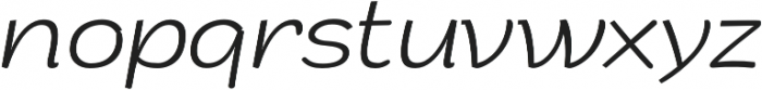 Arturo ExtraLight Italic otf (200) Font LOWERCASE