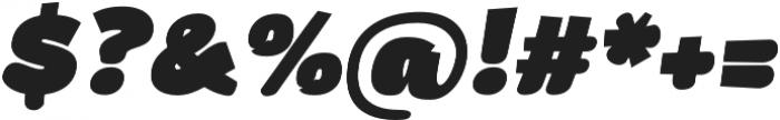 Arturo Heavy Italic otf (800) Font OTHER CHARS