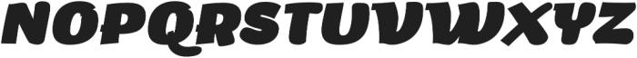 Arturo Heavy Italic otf (800) Font UPPERCASE