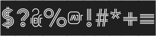 Arya Triple Capsule Black otf (900) Font OTHER CHARS