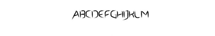 Archet_Brushy_Font.ttf Font UPPERCASE