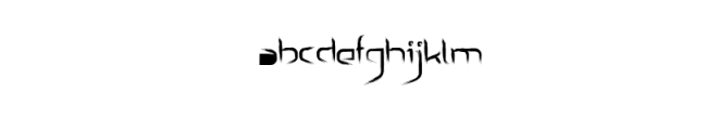 Archet_Brushy_Font.ttf Font LOWERCASE