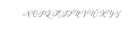 Arellia Script Font UPPERCASE