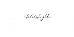 Arellia Script Font LOWERCASE