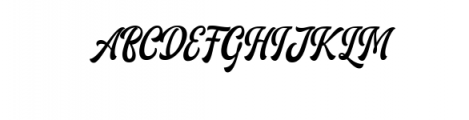 Ariestha.ttf Font UPPERCASE